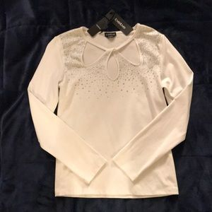 Bebe optic white blouse